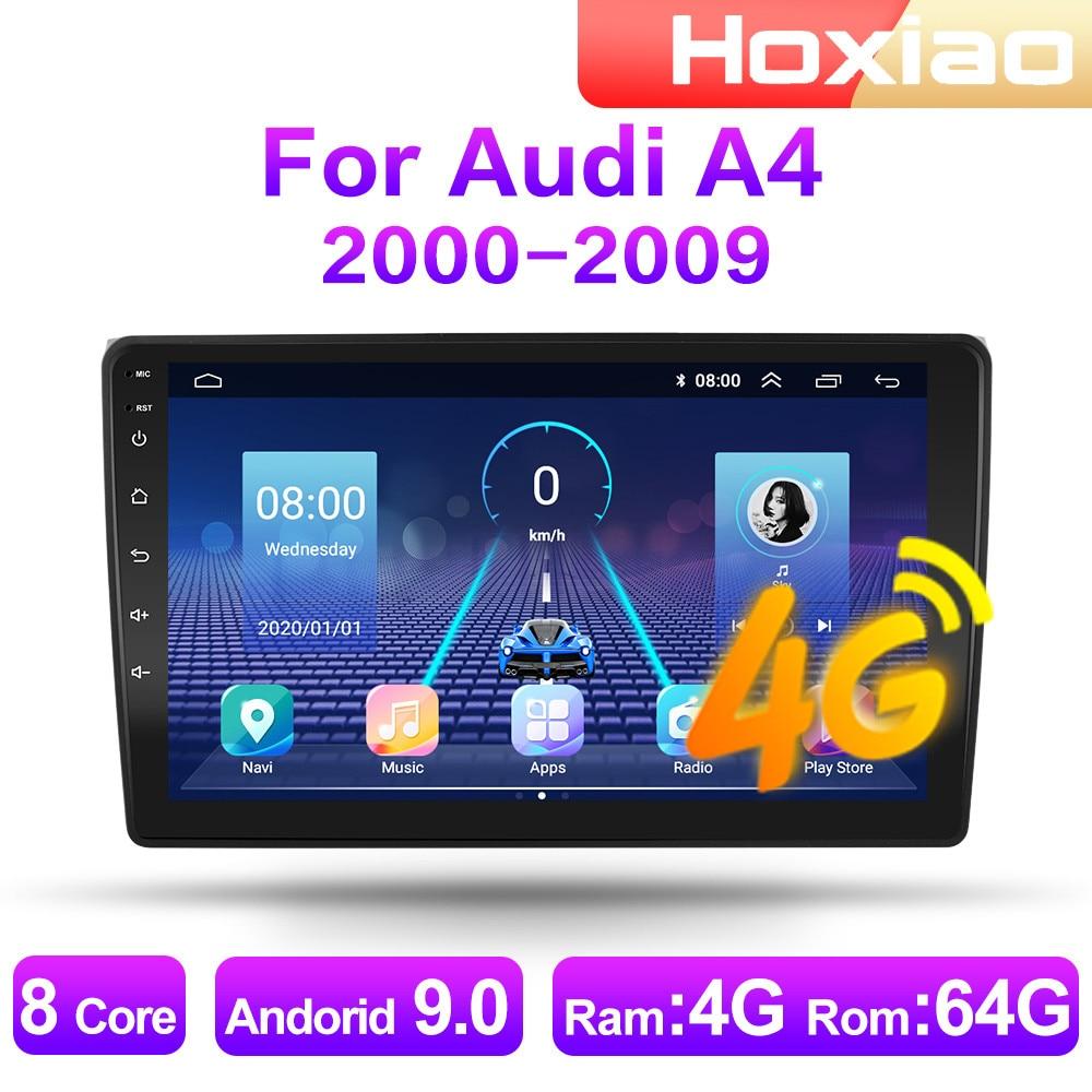 Автомагнитола 2 DIN, 4G, Android 9, мультимедийный видеоплеер для Audi A4 2000, 2001, 2002, 2003, 2004, 2005-2009, GPS-навигация, аудио, 2 DIN