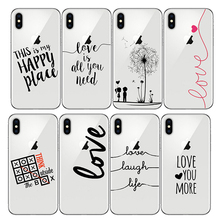 Soft Coque Love French Portuguese Words Amor Design Phone Case Silicone for Iphone 6SPlus 6S 8Plus XR X SE XS MAX