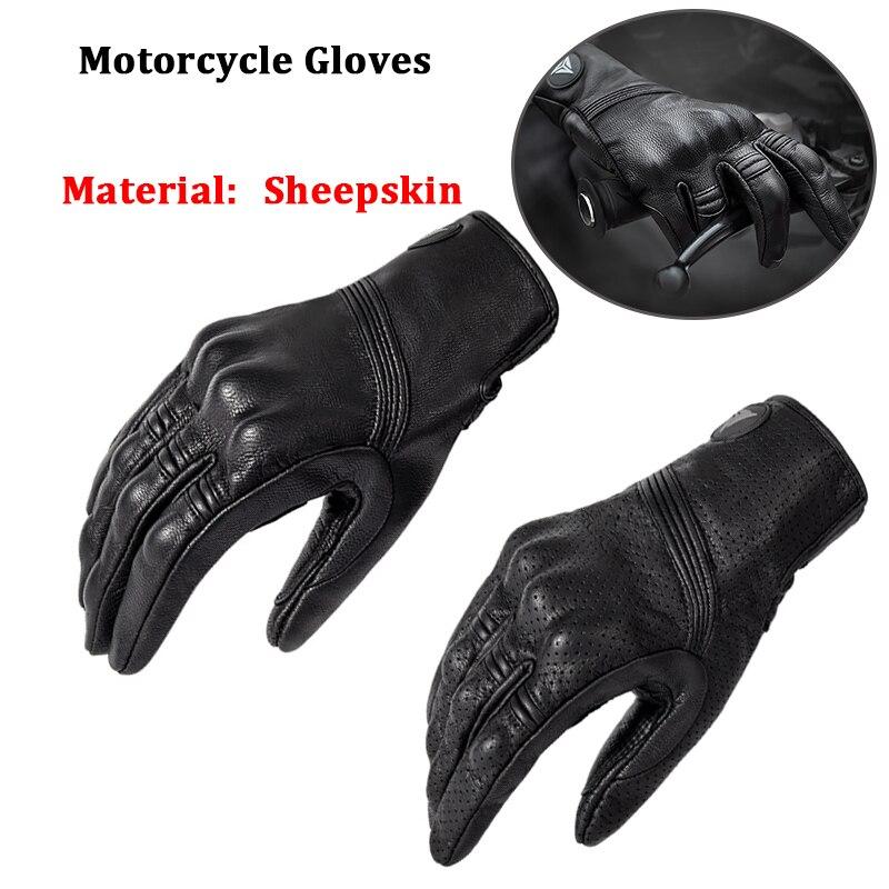 Мотоциклетные Перчатки MOTOWOLF из овчины, кожаные винтажные защитные байкерские перчатки для езды на мотоцикле, спортивные велосипедные перч...
