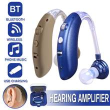 Hearing Aid Rechargeable Device Digital Ear Aids Foundation For The Elderly Deafness Audifonos Sound Amplifier Headphone Support