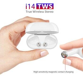 Original i14 TWS Wireless Earphones Bluetooth Headset Invisible Earbuds for Smart Phone PK i11 i12 i13 i15 i7s i20 i60 i30 2