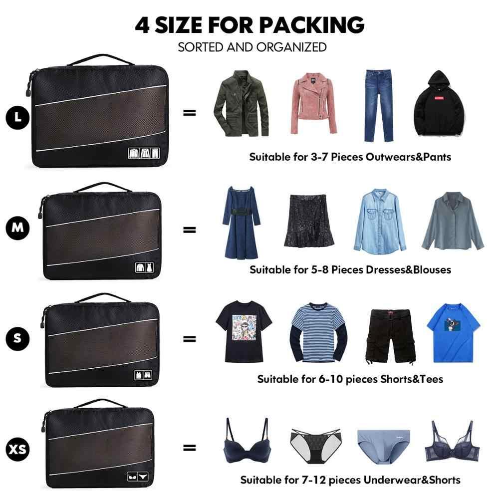Soperwillton Männer Frauen Reisetasche Männlich Weiblich 210D Polyester 3 4 6 8 Stück Verpackung Würfel Reise Gepäck Organizer Cube set #501