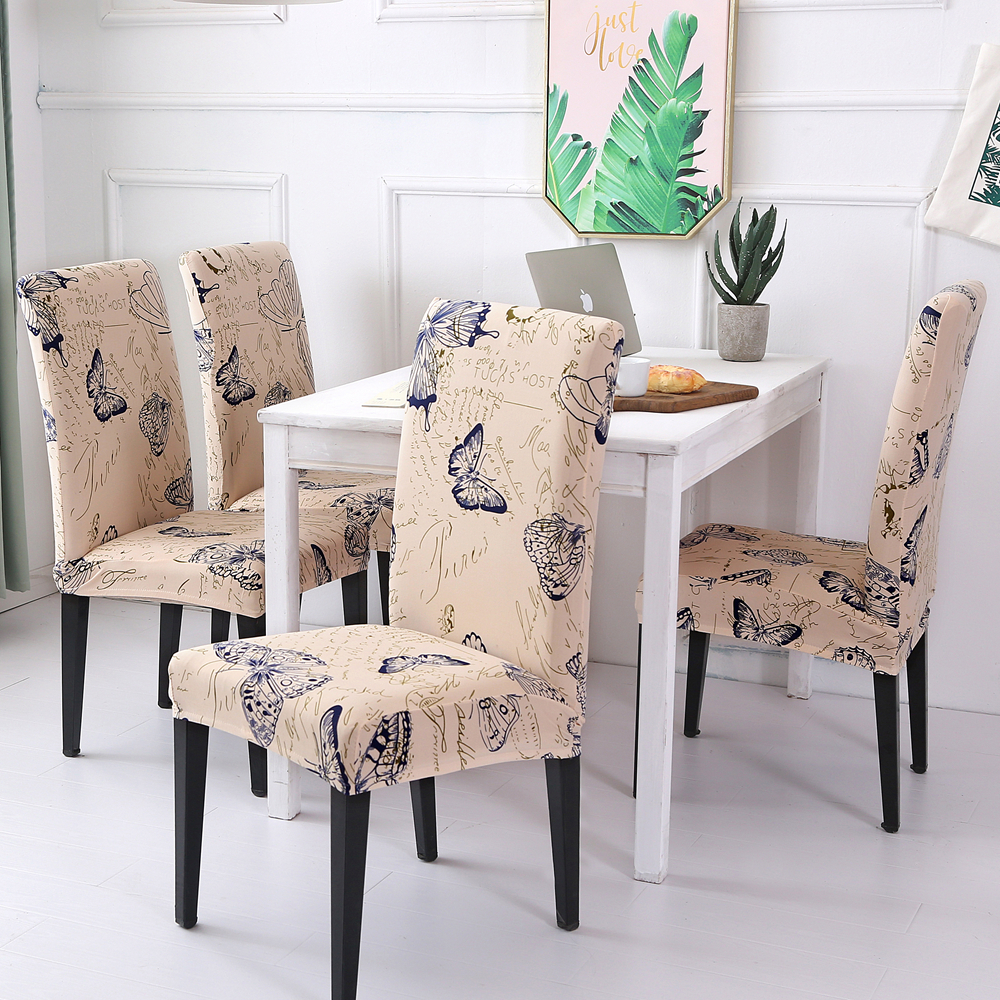 Removable Wedding Dining Chair Covers Spandex Computer Office Chair Cover Stretch Linings For Desk Seat Covers Banquet 1