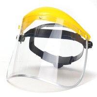 As caras transparentes da segurança do pvc protegem viseiras sobresselentes da tela para a proteção principal 33x20.3cm das caras dos olhos da máscara|Másc.| |  -