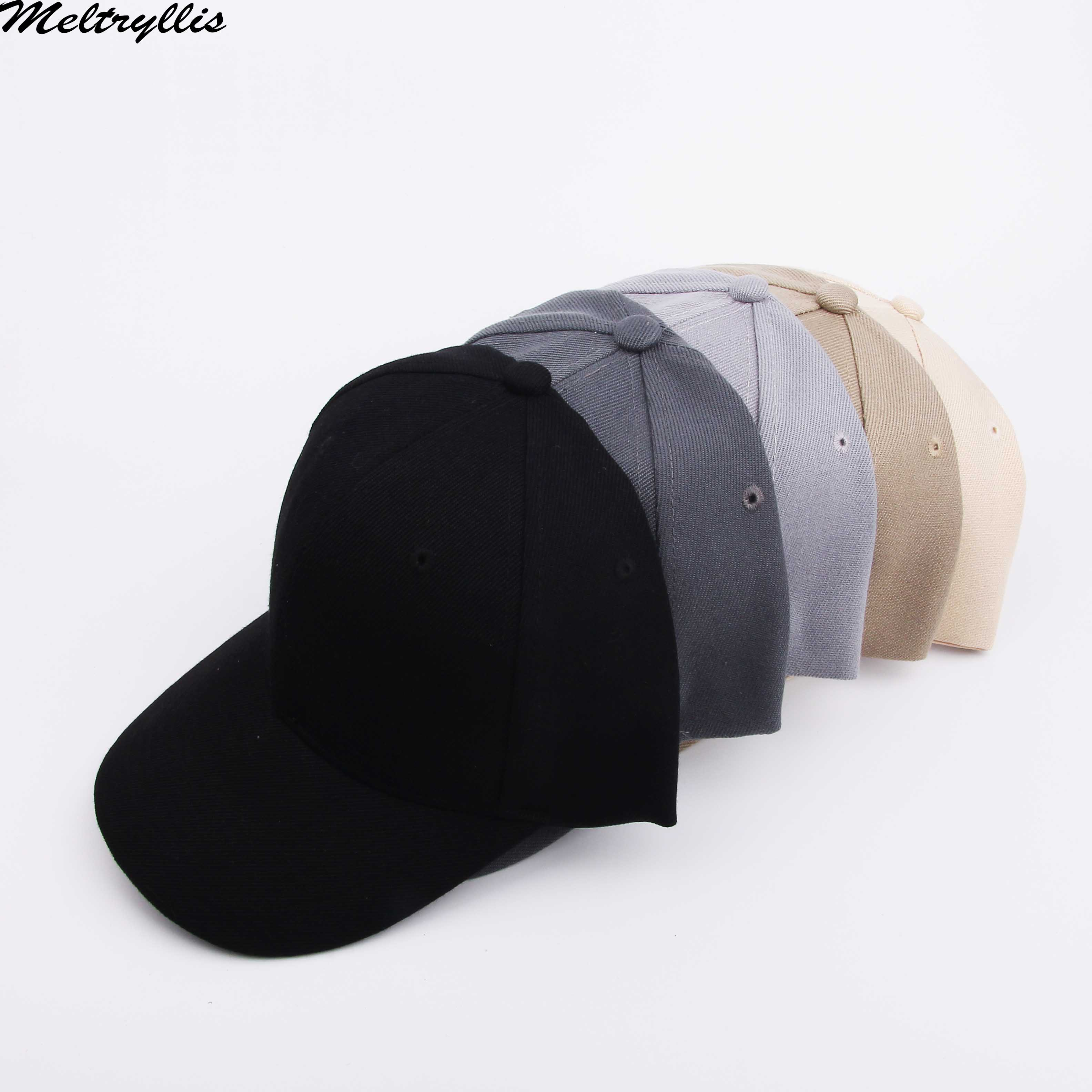 [Meltryllis]High Cotton Adjustable Solid Color Baseball Cap Unisex Couple Caps Fashion Leisure Dad Hat Snapback Hats