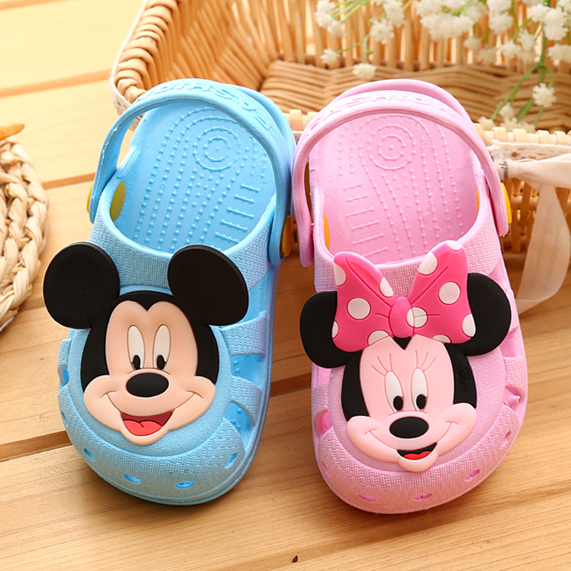 Summer 1-3 Years Old Children's Hole Shoes Men And Women Baby Slip Indoor Sandals And Slippers Cute Home Shoes Children's Slippe