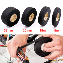 15M Fabric Adhesive Tape Heat-resistant Cable Wiring Harness Tape Looms Fabric Cloth Tape Adhesive Tape Width 9/19/25/38mm