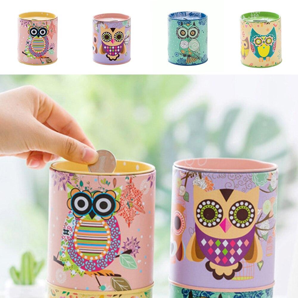 1PC Kawaii Owl Pen Holder New Cartoon Round Desk Stationery Pencil Coin Multi Box Storage For Kids Boys Girls School Supplies