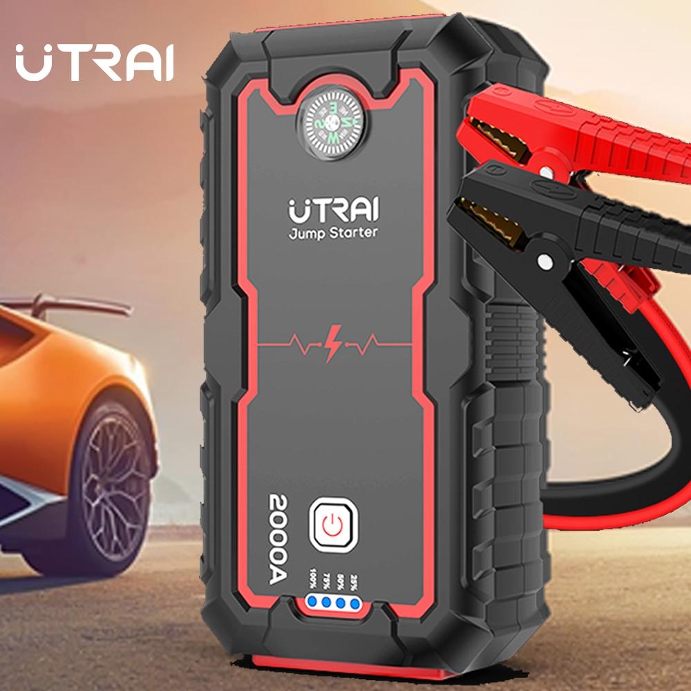 UTRAI Jump Starter coche aumento de potencia Banco de la batería 2000A 12V Auto dispositivo de arranque de coche cargador de arranque de emergencia batería de arranque