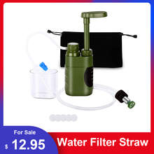 Emergency Water Filter Straw Replacement Filter Water Filtration Purifier for Outdoor Survival Emergency Camping Hiking