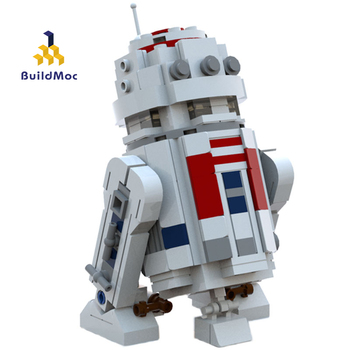 05043 Compatible Lepining Movie Space Wars Action Figures The R2-D2 Robot Mini Model Building Blocks Toys For children Gift image