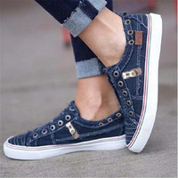 Women vulcanize shoes canvas sneakersfemale shoes hook&loop sewing casual shoes woman