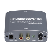 192Khz Digital to Analog Converter Coaxial Optical Digital to Analog Audio Converter HIFI Audio Converter