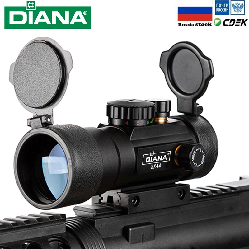 1X40 2X40 3X44 Green Red Dot Sight Scope Tactical Optics Riflescope Fit 11/20mm Rail Rifle Scopes For Hunting