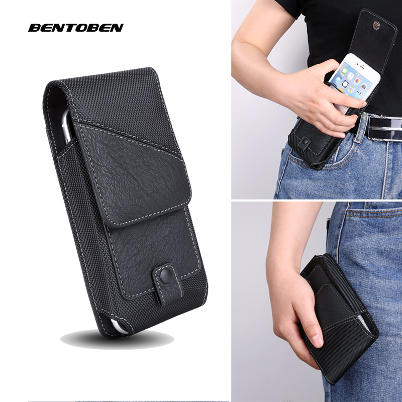 BENTOBEN Universal Mobile Phone Waist Bag for Iphone11 XR X XS 6 7 8 Plus PU Leather Belt Clip Phone Cover for Xiaomi Huawei