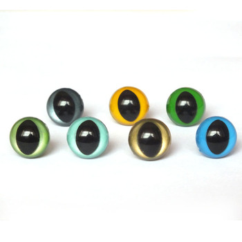 12mm Safety Eyes/Plastic Cat Doll eyes With Washer Handmade Accessories For Bear Doll Animal Puppet Making