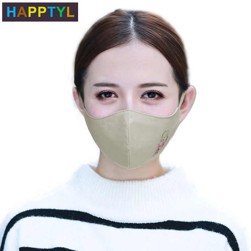 HAPPTYL Fashion Girls Face Mouth Mask Anti Dust Mask Filter Windproof Mouth-muffle Bacteria Proof Flu Face Masks Care Reusable