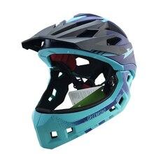 fullface helmet kids bicycle helmet M red mtb mountain bike