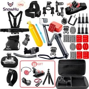 Аксессуары snowhu для GoPro Набор для go pro hero 8 7 6 5 4 3 комплект 3 способ селфи палка для sjcam для xiaomi для yi EVA чехол GS21