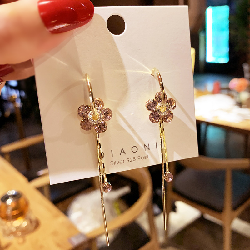 New Korean Heart Statement Drop Earrings 2020 for Women Fashion Vintage Geometric Acrylic Dangle Hanging Earring Jewelry