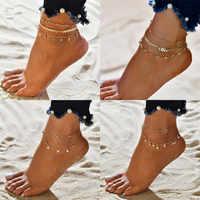 LETAPI tobilleras con corazón para mujer, joyería de pies para sandalias de ganchillo descalzo, tobilleras nuevas para tobillo, tobilleras, pulseras para mujer, cadena de pierna