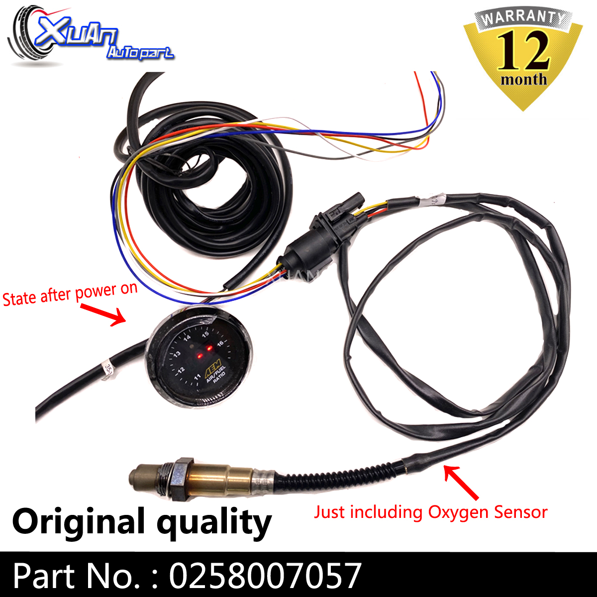 XUAN Oxygen Sensor AIR FUEL RATIO Lambda O2 SENSOR 021906262B For AUDI TT Volkswagen Je tta Golf Beetle 0258007057 <font><b>17014</b></font> image