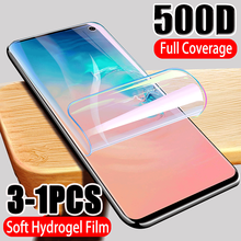 500D Full Cover Hydrogel Film Screen Protector For Samsung Galaxy S10 S9 S8 S10E Note 10 PLUS 8 9 Screen Protector For S20 Plus(China)