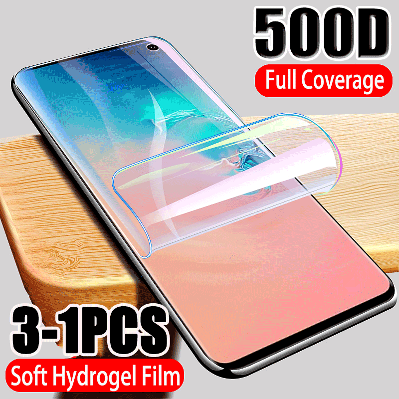 500D Full Cover Hydrogel Film Screen <font><b>Protector</b></font> For <font><b>Samsung</b></font> Galaxy S10 <font><b>S9</b></font> S8 S10E Note 10 PLUS 8 9 Screen <font><b>Protector</b></font> For A50 A70 image