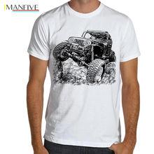 2019 Summer Style Men Tee Shirt Jeep Off Road Fan CJ 7 Car T-Shirt Dirt Rally Multi Color S-3XL цены