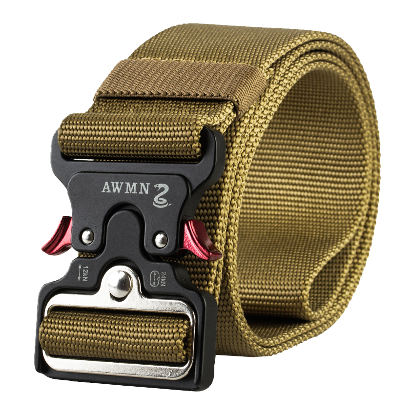 Men Canvas Tactical Belt 4.8CM Wide Military Nylon Belt For Trousers Long Training Belts Metal Buckle Fast Release Waist Belts