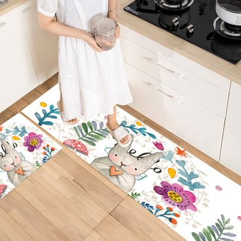 Long Kitchen Mat Bath Carpet Floor Mat Home Entrance Doormat Tapete Absorbent Bedroom Living Room Floor Mats Modern Kitchen Rug image