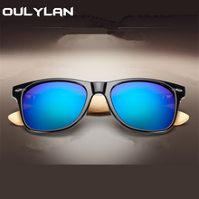 Oulylan Vintage Wooden Leg Sunglasses Men Women Luxury Brand