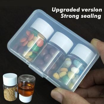 Pudełeczko na lekarstwa o dużej pojemności szczelny odporny na wilgoć pojemnik na leki wodoodporny pojemnik na leki dozujący butelka medyczna Pillbox tanie i dobre opinie MERALL Pill box pills dispenser pill organizer Tablet Pillbox Pill storage box organizer for tablets Pill Cases Splitters