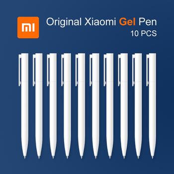 Oryginalny Xiaomi Mi 10 sztuk długopis żelowy 0 5mm czarny wkład bez czapki Bullet Pen gładki szwajcarski MIKRON stalówka japoński atrament tanie i dobre opinie Xiaomi Mi Gel Pen 0 5mm Z tworzywa sztucznego Biuro i szkoła pen