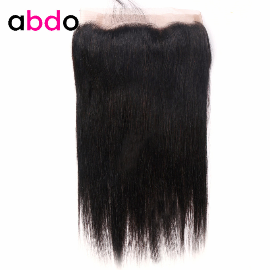 360 Lace Frontal Closure Straight Closure Brazilian 360 Frontal Closure With Baby Hair Remy 100% Human Hair Frontal Abdo