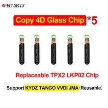 5Pcs/Lot Car Key Chip Copy 4D Glass Chip Replaceable TPX2 LKP02 Chip Can Support KYDZ TANGO VVDI JMA Machine(Reusable)