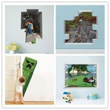Pegatinas de pared de dibujos animados en 3D de Steve accesorios de decoración del hogar regalos para niños pegatinas de pared para habitaciones de niños