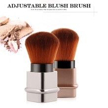 1 PC Adjustable Blush Brush Retractable Foundation Blusher Face Powder Beauty Cosmetic Tool pro retractable soft makeup blush brush powder cosmetic adjustable face powder brush kabuki brush top quality