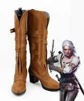 Cirilla Fiona Elen Riannon Cosplay Halloween fête chaussures Ciri bottes femmes filles sur mesure