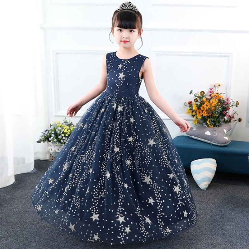 2019 High Quality Flower Girl Wedding Evening Girl Long Dresses First Communion Princess Dress Baby Costume Ball Gown Vestido