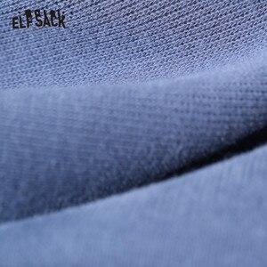 Image 4 - ELFSACK Black Solid Korean Warmness Women Pants 2020 Winter Black Elastic Waist Straight Office Ladies Basic Daily Trousers