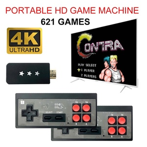 4K HDMI USB Dual Wireless Handheld TV Video Game Console built in 621 Classic Game 8 Bit Mini Video HDMI Output Game Player