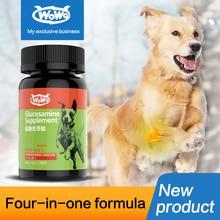 WOWO гель для домашних собак с аммиачным хондроитиновым составом с акулой хондроитиновыми костями кальция и кальцием 260 таблеток товары для здоровья домашних животных