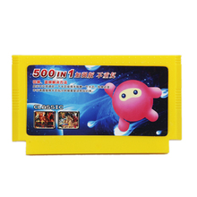 Neue Ankunft 500 in 1 Klassische Spiele Sammlung 8 Bit 60 Pins Spiel Karte für Video Spiel Konsole Speicher Karte