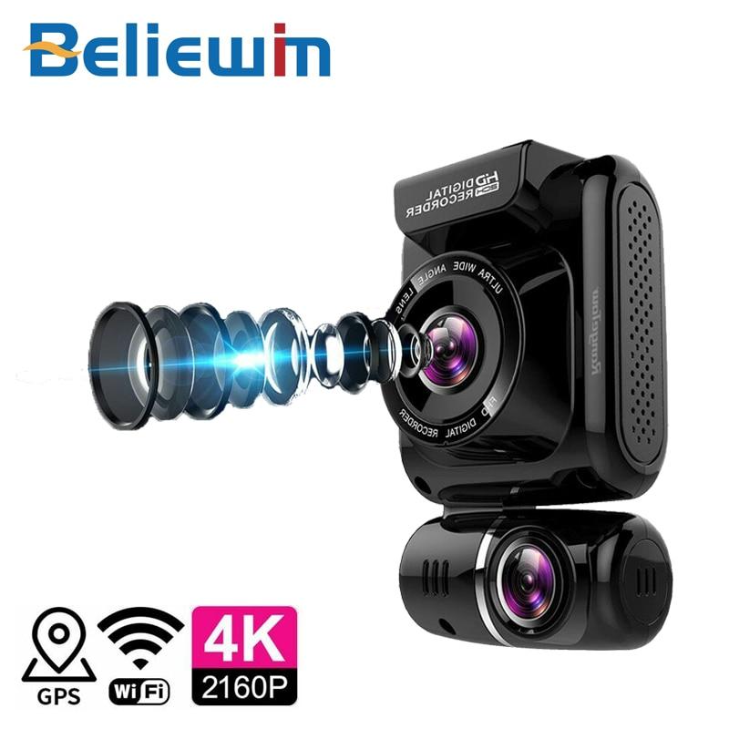Mini escondido 4 k 2160 p carro dvr wifi gps registrador novatek 96663 chip sony imx323 sensor câmera dupla traço cam gravador