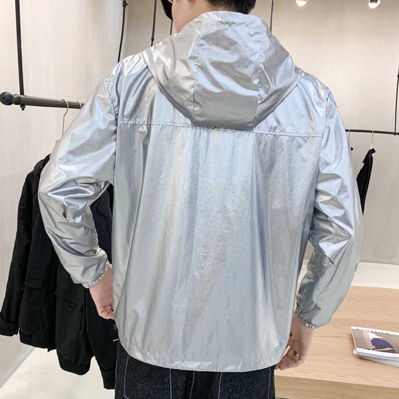 가을 새로운 풀오버 자켓 남자 패션 솔리드 컬러 캐주얼 후드 자켓 남자 Streetwear 야생 힙합 폭격기 자켓 남성 의류