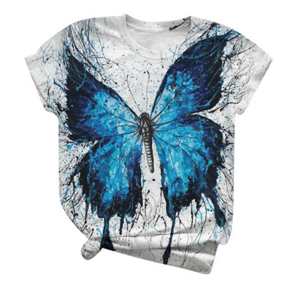 35# Plus Size Women T shirt Short Sleeve 3D Animal Printed O-Neck Tops Tee T-Shirt Woman Aesthetic Tshirts ropa mujer Droship