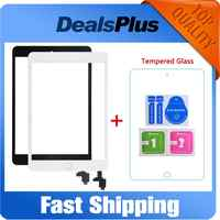 Replacement New Touch Screen Digitizer with IC+Home Button+Flex Cable For iPad Mini 1 A1432 A1454 A1455 Mini 2 A1489 A1490 A1491