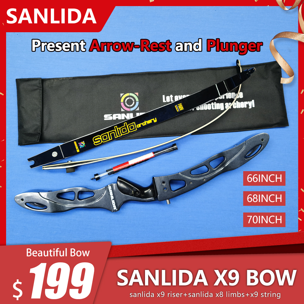 Sanlida Archery X9 Recurve Bow Set ILF Entry-level Target Bow Outdoor Filed Archery And Hunting Shooting Bow