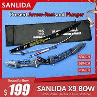 Sanlida Archery X9 Recurve Bow Set ILF Entry level Target Bow Outdoor Filed Archery and Hunting Shooting Bow